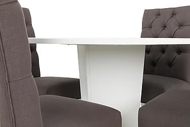 Spisegruppe Blocco 120 cm Hvit/Lysgrå