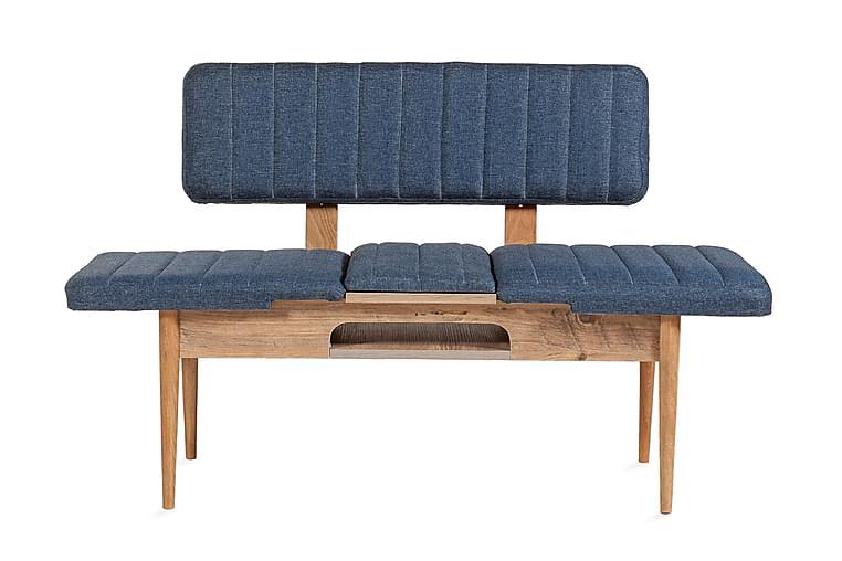 Benk Weisskopf 85 cm - Tre | Natur | Mørkeblå - Innredning - Små møbler - Benker