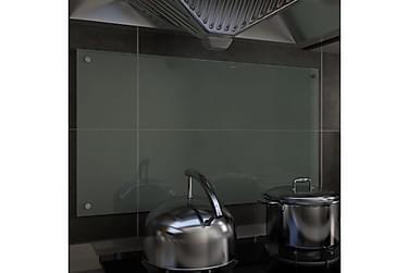 Kjøkkenplate hvit 90x50 cm herdet glass