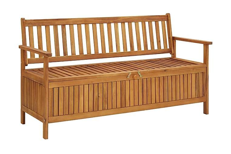 Oppbevaringsbenk hage 148 cm heltre akasie - Innredning - Små møbler - Benker