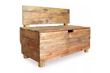 Ullock Benk med Ryggstøtte+ Oppbevaring 86x40 cm