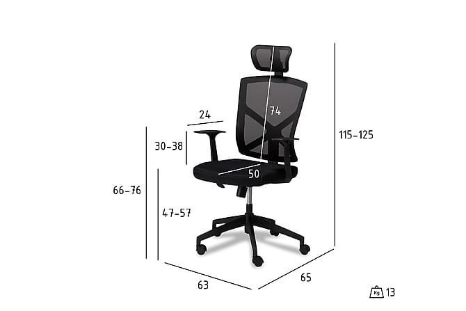 Kontorstol Kianira - Svart - Møbler - Stoler - Kontorstol & skrivebordsstol