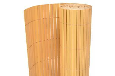 Dobbelsidet hagegjerde PVC 195x300 cm gul