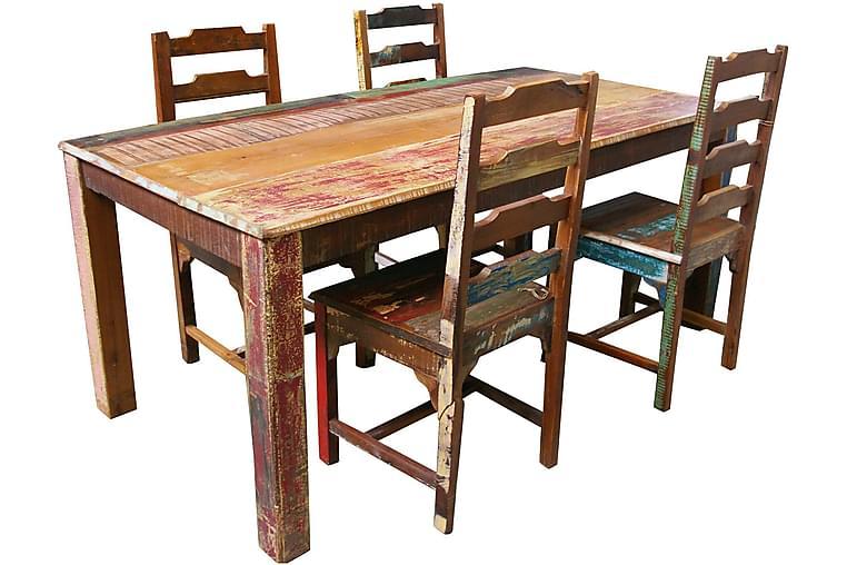 Kjøkkenstol Albos 2-pk - Akasie Brun - Møbler - Stoler - Spisestuestoler & kjøkkenstoler