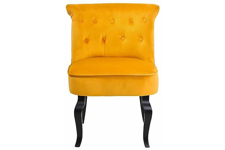 Kjøkkenstol Brittany Sammet - Tre|Natur - Møbler - Stoler - Spisestuestoler & kjøkkenstoler