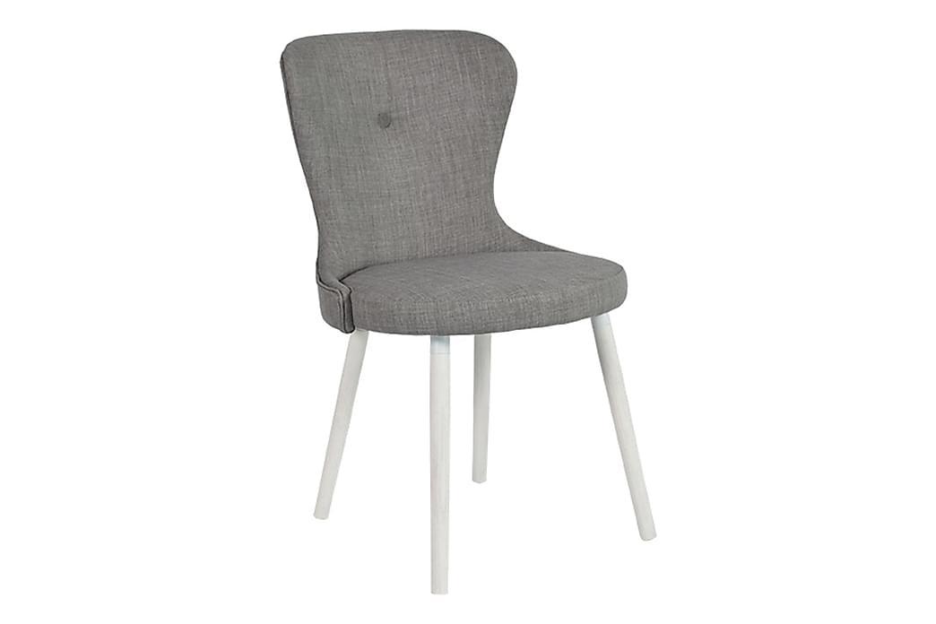 Kjøkkenstol Nilla - Hvit|Grå - Møbler - Stoler - Spisestuestoler & kjøkkenstoler