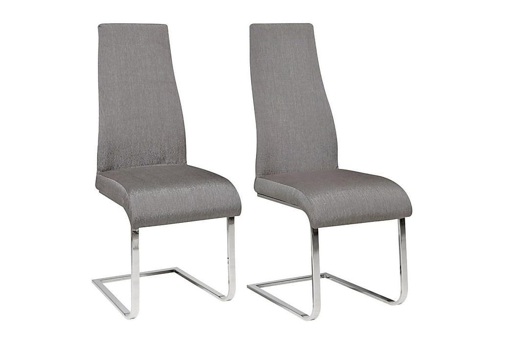Kjøkkenstol Tedor 2-pack - Grå|Krom - Møbler - Stoler - Spisestuestoler & kjøkkenstoler