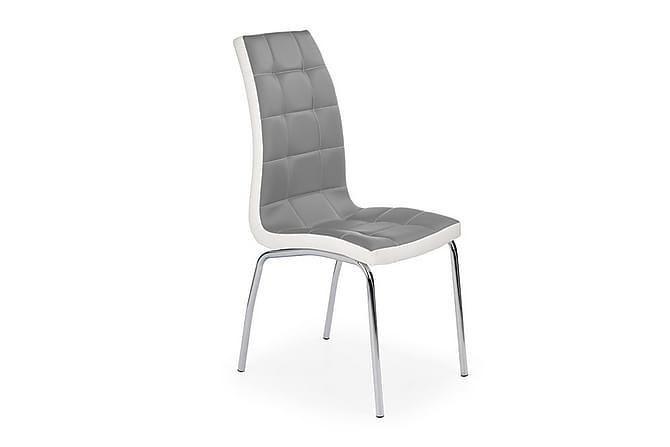 Kjøkkenstol Wenetta Konstläder - Grå Hvit - Møbler - Stoler - Spisestuestoler & kjøkkenstoler