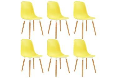 Spisestoler 6 stk gul plast